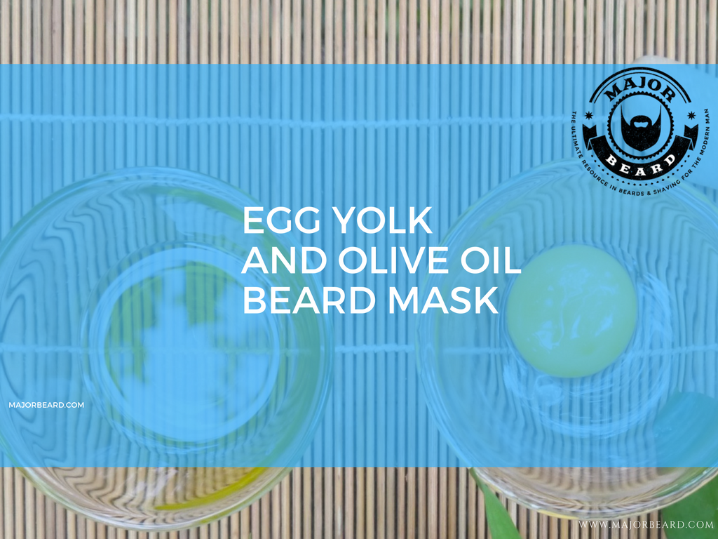 Smoothie and Juice Recipes For a Strong, Healthy Beard - Egg Yolk and Olive Oil Beard Mask