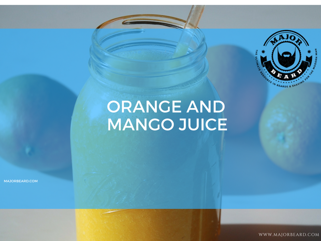 Smoothie and Juice Recipes For a Strong, Healthy Beard - Orange and Mango Juice