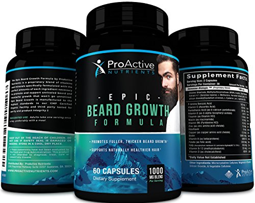 1. ProActive Nutrients Epic Beard Growth Formula Review