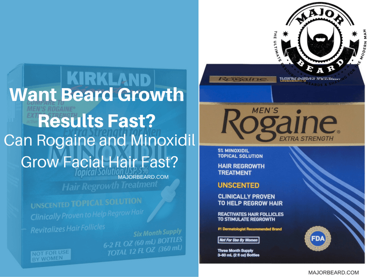 Want Beard Growth Results Fast Can Rogaine And Minoxidil Grow