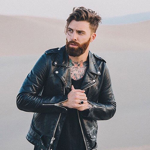 The Long Fringe Undercut With Medium/Long Groomed Beard