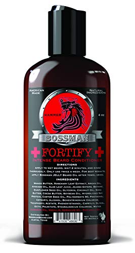 Bossman Fortify Intense Beard Conditioner to Grow, Thicken, Moisturize and Protect Your Beard (Hammer)
