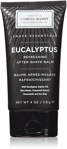 Caswell-Massey Eucalyptus After Shave Balm – Soothing Aftershave With Jojoba And Shea, Made In USA, 4 Ounces