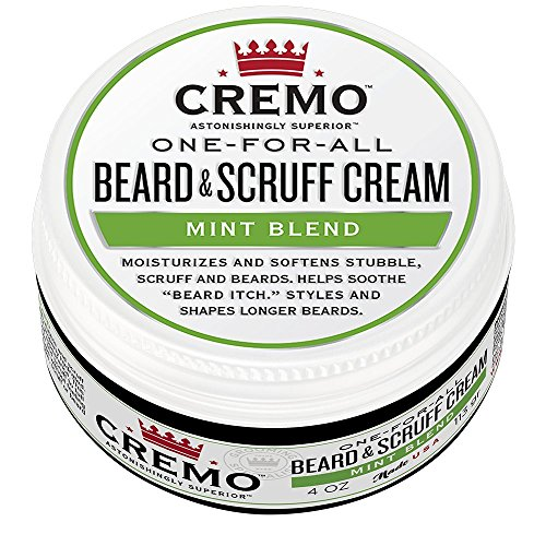 Cremo Blend Beard & Scruff Cream, Mint Blend Fragrance, Moisturizes, Styles And Reduces Beard Itch For All Lengths Of Facial Hair, 4 Ounces, Packaging May Vary