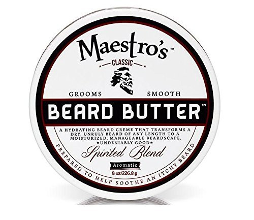 Maestro's Classic Spirited Beard Butter, 8 Ounce