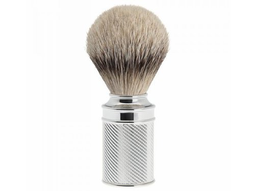Muhle Shaving Brush, Silvertip Badger Hair, Chrome Metal Handle