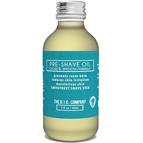 The B.I.G. Company - Pre Shave Oil - 60ml / 2oz Shave Oil - Use with Straight Edge or Safety Razor - Classic Barbershop Scent - Shaving Guide ebook Included