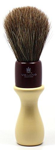 Vie-Long 04512 Barbershop Horsehair Shaving Brush with Plastic Handle