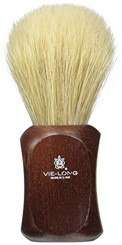 Vie-Long PB15830 Special Horse Hair Shaving Brush, Red Wooden Handle