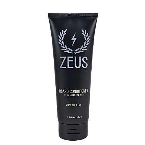 ZEUS Beard Conditioner Wash for Men - Verbena Lime Scent - 8oz - Sulfate-Free, Rinse-Out Softener