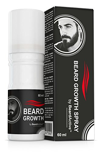 Beard Growth Spray® - The Solution for the Perfect Beard - 100 % Natural Formula - Facial Hair Support