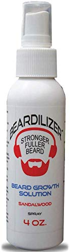 Beardilizer Beard Growth Topical Spray - Sandalwood - 4 oz