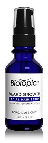 Biotopic Beard Growth Serum, Grow Your Beard Thicker, 1 Ounce