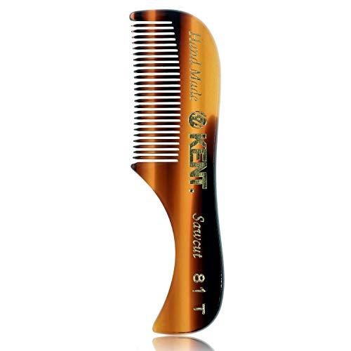 """Kent A 81T (2.8"""") Pocket Comb & Beard Comb for Mustache and Beard - Travel Kit Beard Comb for Grooming/Beard Care - Fine Tooth Comb Mustache Comb Kent Comb for Mustache Kit Beard Grooming (3 PACK)"""