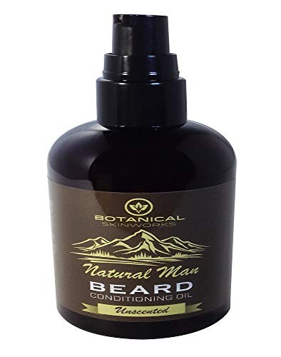 Natural Man Beard Oil 4oz All Natural Unscented (No Added Fragrance) Beard Conditioner by Botanical Skin Works