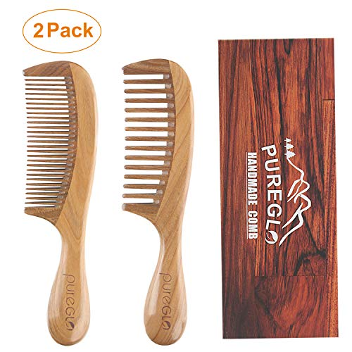 Red Sandalwood No Static Beard Comb, Pocket Hair Comb – Best Handmade Comb with Fine/Coarse Tooth
