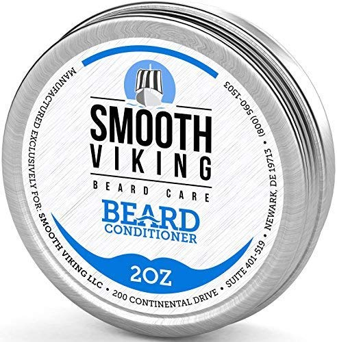 Smooth Viking Beard Conditioner for Men, Leave-in Wax Conditioner That Softens and Soothes Itching, 2 Ounces