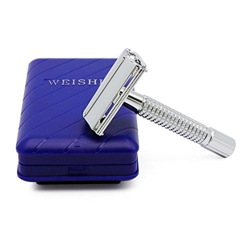 Weishi Double Edge Safety Razor with 10 Blades